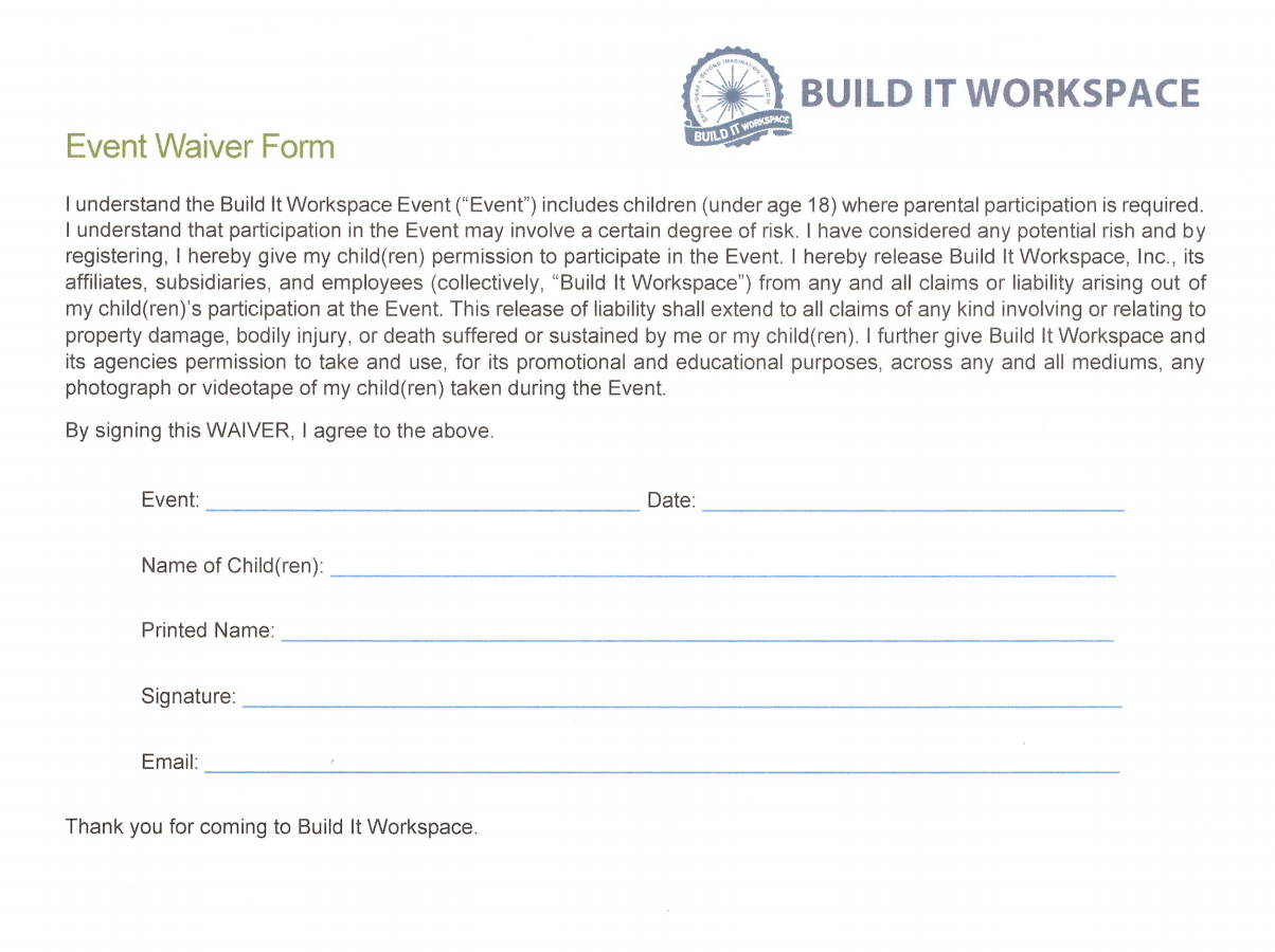 Build It Workspace – Events and Birthday Parties